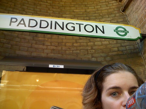 at paddington station in london