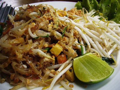 Phad thai fried noodles