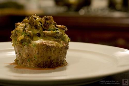 Beef Fillet with Mushroom Gratin