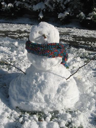 Nosso primeiro boneco de neve!