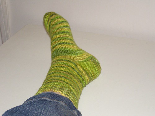 Lemongrass sock, on me