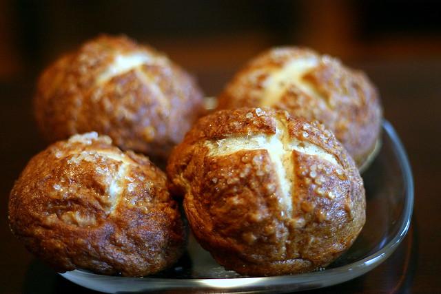 salty cross buns