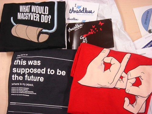 What happens when Threadless goes $10/t-shirt...