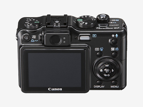 Canon Powershot G7 rear view