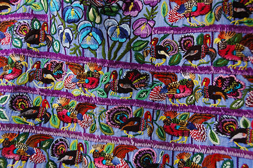 Lago Atitlan Santiago - 17 Embroidery closeup