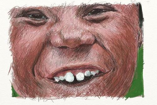 Toothy art rage