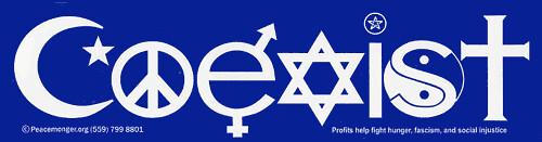 Coexist bumper-sticker