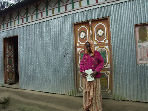 Her house was built at Grameen's loan