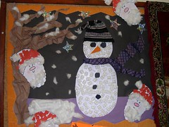 Christmas Snowman display at Stay & Play