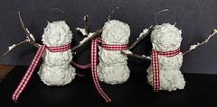 Sammie Snowmen Ornaments -Back