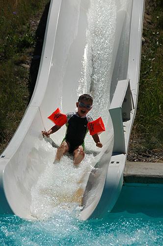 Big Sky Waterpark - Ohad in Kiddie Slide