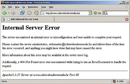 CD&V Dendermonde - server error