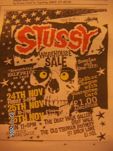 Stussy sample sale