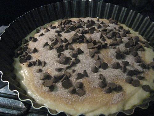 chocolate chip and yogurt cake, unbaked