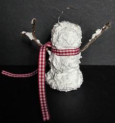 Sammie Snowmen Ornament -Back