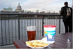 Fluff with Pint and Chips and St Pauls
