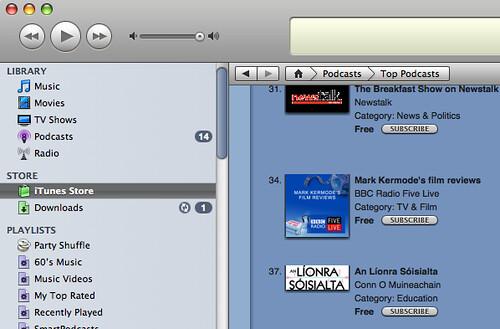 An Líonra Sóisialta in iTunes