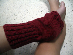 Side view of my leg warmers!