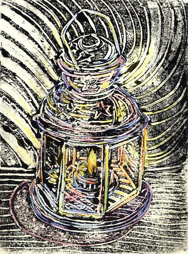 Monoprint Lantern