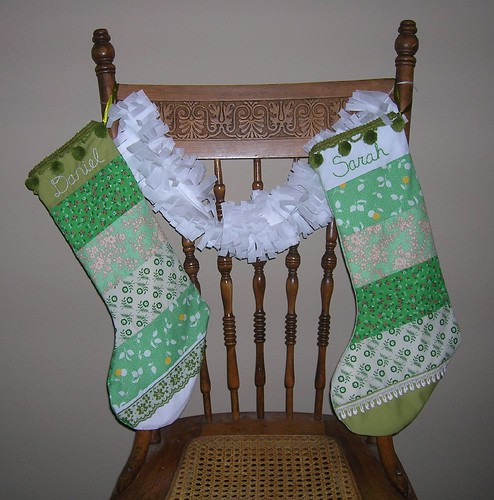 stockings and a garland