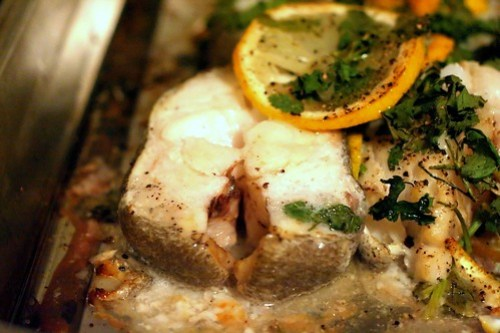 oven baked dhufish cutlets with lemon and coriander