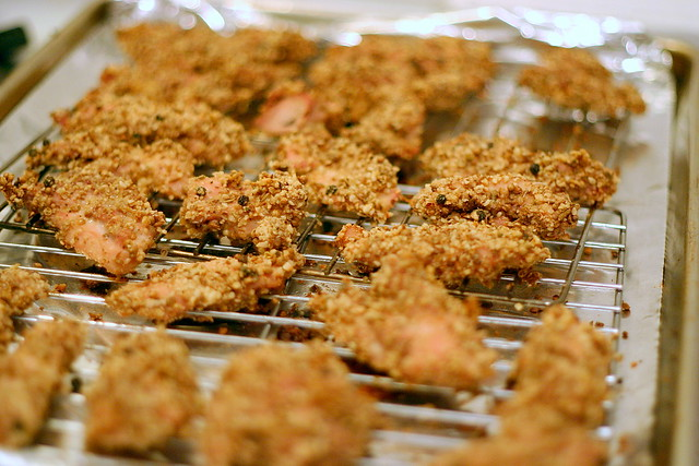 dukkah-coated chicken tenders