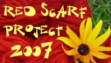 Red Scarf Project Button