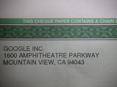 My First Google Adsense cheque