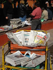 Newspaper cart in San Miguel de Allende