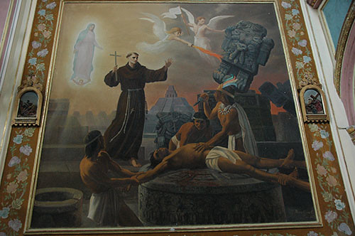 Acambaro - 06 Second painting in Templo del Hospital