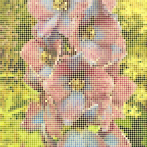 Flower bead art