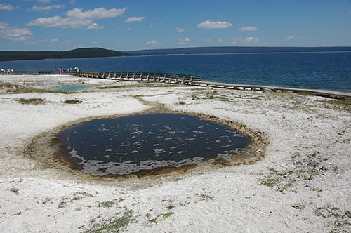 Yellowstone West Thumb - Dark Pool by the lake