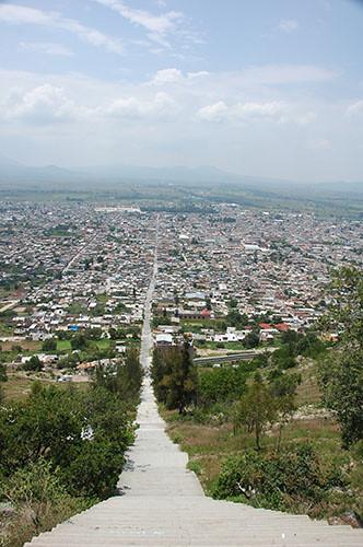 Acambaro - 14 Longest street in Acambaro from Cerro del  Toro