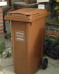 Its a brown bin, and it's from Lewisham