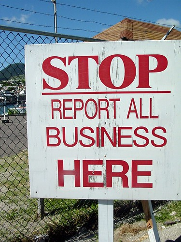 Stop. Report All Business Here