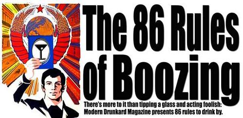 86 Rules of Boozing