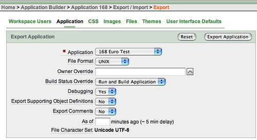 Application Export