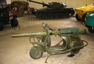 Scooter based 75mm recoil-less rifle