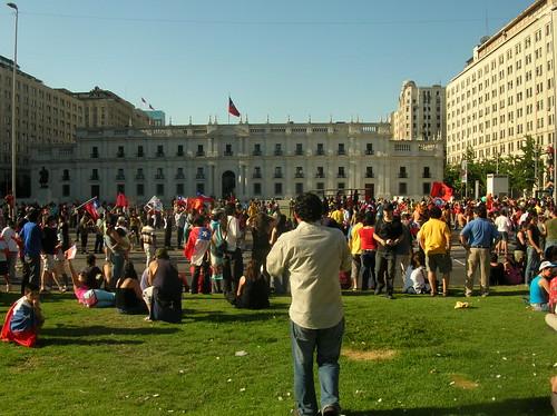 Muerte Pinochet, Frontis Palacio de gobierno