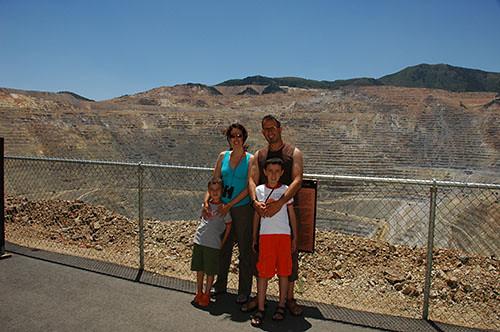 Kennecott Copper Mine - Family at Mine