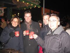 Peter, Robert, Jacky und Chris am Deggendorfer Weihnachtsmarkt