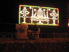 Jimmy and Grandad at Blackpool Lights