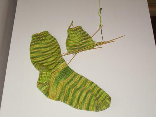 Second Lemongrass Sock, beginning