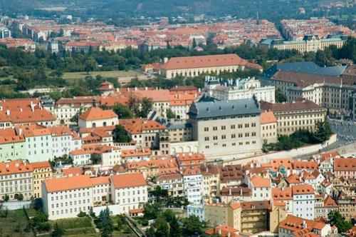 Praga: vista dalla torre di Petrin