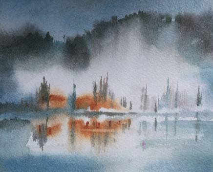 Misty waters