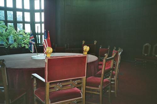 il tavolo della Conferenza di Potsdam