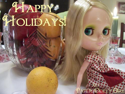 Paperdollygirl Christmas Card