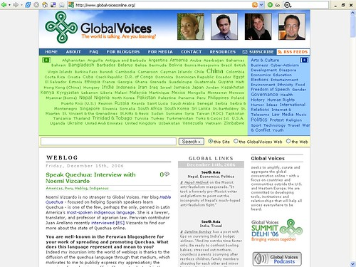 Global Voices Online - The World Is Talking, Are You Listening?