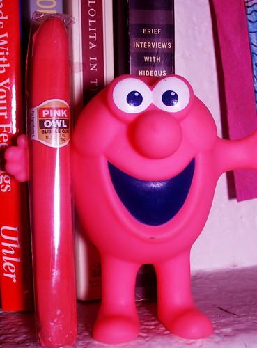 Mr. Bubble with a Pink Owl Bubblegum Cigar