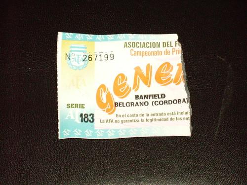 toegangskaartje van Banfield - Belgrano Cordoba
